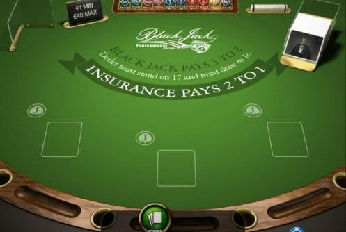 Netent Blackjack Professional Series met Sidebet