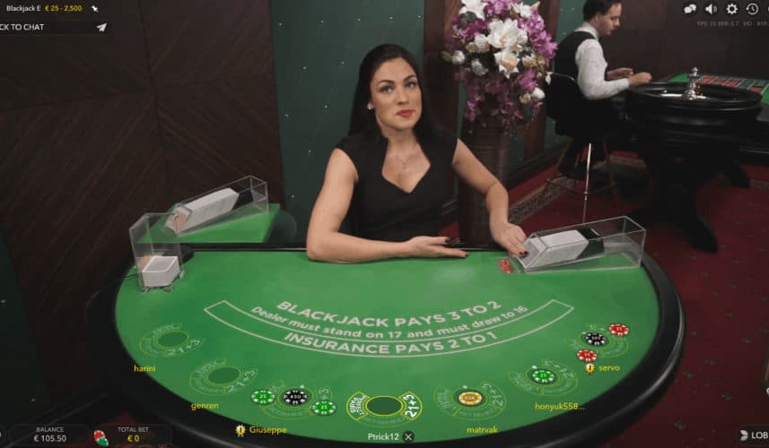 Evolution Gaming Blackjack Live