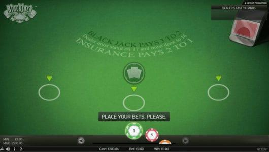 Blackjack TM nieuwste spel van Netent