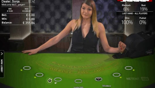 Netent Live Blackjack HD