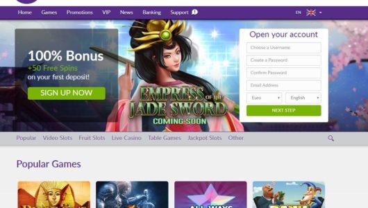 De website van Omni Slots
