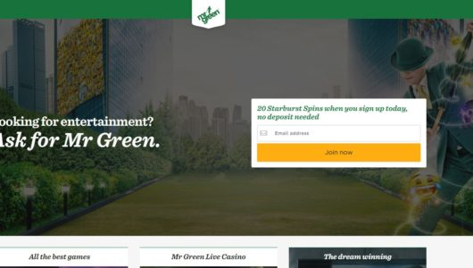 De website van mr green