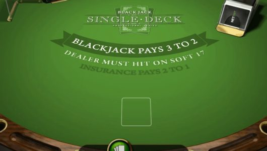 Blackjack Single Deck Professional